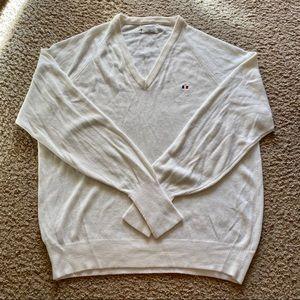 CHRISTIAN DIOR vintage white v-neck sweater
